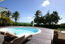 Villa Blanche, 3 chambres les pieds dans l'eau / Location d'une villa de 3 chambres 2 salles de bains les pieds dans le lagon à Saint François, accolée au golf 18 trous de Guadeloupe
