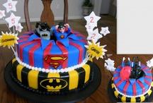Steven's Super Hero Cake Board