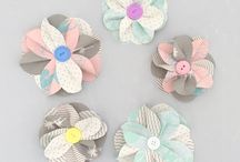 papír/filc virágok