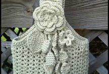 kabelky a polštáře pletené a háčkované / kabelky šité / by alena vejšická