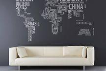 Mappemonde / Carte / Map illustration / Illustration carte