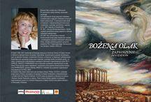 """Wystawa """"Dawna i dzisiejsza Grecja w malarstwie Bożeny Olak"""""""