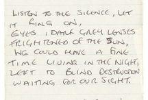 Joy Division handwriting