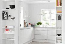 Cocinas / roble, laca y cedro