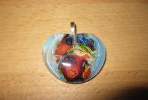 Unikat Schmuck aus Glas handgearbeitet - Glasfusing / Schmuck aus Glas - Glasfusing