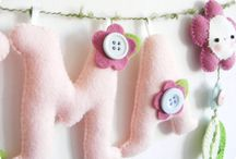 Wreaths and banners in felt