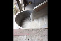 Concrete stairs with concrete balustrade / We constructed this elegant concrete stairs with balustrade, on a project in Windsor.  http://ejbformwork.co.uk/before-and-after/