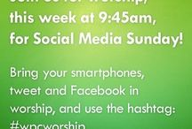 Social Media Sunday / #SMS is ecumenical effort to share the good news about building community with social media. Held annually on the last Sunday in September.