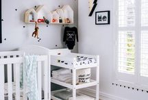 white grey black nursery