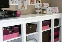home office/craft heaven / by Candice : She's Crafty