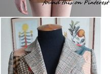 my Pinterest inspired hexie jacket / Inspired by a picture found on Pinterest I started with a few hexies one evening. It took me half a year to sew all the hexies together and then make a jacket.