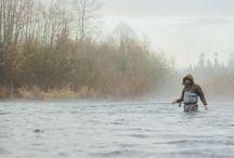 CLACKAMAS RIVER OREGON / Fly fishing the Clackamas River in Oregon.