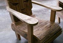 Transformer lounge chair steigerhout