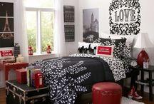 Chambre rouge et noir