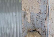 kitchen cupboard chippy look / OldTimeLook , Annie Sloan Chalk Paint