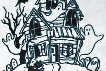 haunted house / stamps