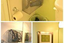 organizando banheiro