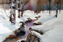 Akvarelli talvi