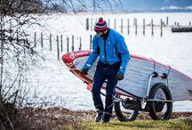cooler Surfanhänger / fürs Fahrrad