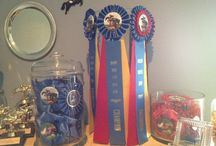 Satin Obsession / What to do with horse show ribbons -- display ideas, DIY and crafts