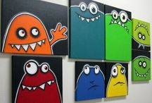 Kid's Painting / Easy acrylic paintings that can be completed in under 2 hours.