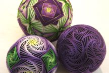 Temari balls and eggs and Crepe Paper Flower Ball / Tearing balls  and eggs and more.  Pinster keeps blaming me for down loads I did not do. Why cant they get them before I find pin to mine?    / by Gary Hensley
