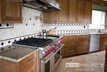 Custom cherry cabinet kitchen