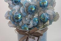 Crafts:Candy Flowers,...  / karkista kukan, yms. askartelu