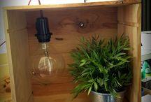Caisse de vin lampe- BacchusBox / caisse en bois, caisse d'expédition, caisse de vin, lampe, artisanale, Bordeaux