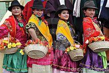 Central America / Traditional costume from : Venezuela, Colombia, Ecuador, Nicaragua, Panama, Costa Rica, Honduras, Guatemala & Mexico