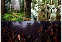 Star Wars, escenarios reales