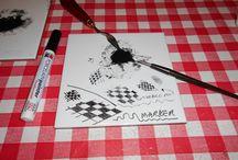 Ceramic & Porcelain Pen & Ink / Materials etc for pen work on ceramic & porcelain.