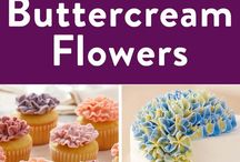 Flowers with buttercream