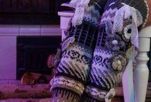 носки вязанка
