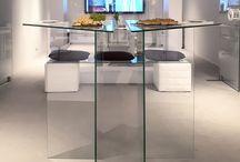 Hellglas Glasmöbel