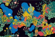 Josef frank-patterns-furniture-paintings / The designs of Josef Frank