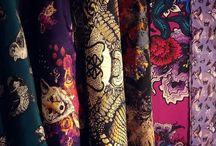 Becca Who - Textile Designs / My Textile Designs for Fashion Accessories originate with my hand drawn artwork.