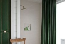 green curtain styling