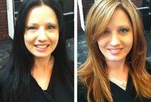 átváltozás új frizurával