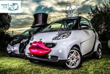 Wedding Car Smart Car Funny / Creative, funny, crazy wedding car = smart car :)