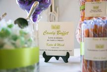 Wedding Candy Buffet / Colorful candies are perfect treat for wedding guests.