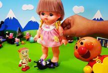 メルちゃんとバイキンマン❤アンパンマン アニメ&おもちゃ