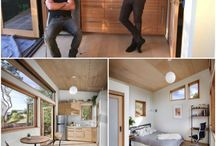 Tiny Houses / Eclectic, boho, industrial, natural, wood, neutral, harmony, eco living, zero waste, recycling, upcycling, diy