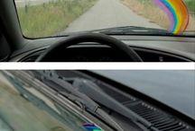 Rainbow on car