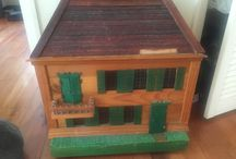 Doll House Upcycle holiday project