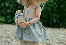 L.E. modeling cast dolls