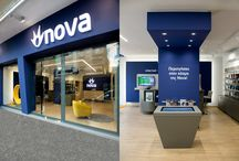Nova, chain of stores / Our company was approached by Nova, Greece's most prominent satellite television provider, who recently expanded horizontally into telephony and Internet provision. The new retail concept for the company's chain of stores was a challenge and as always, we delivered more than a simple design. Instead, we delivered a complete store concept which could then be adapted to Nova's whole network.