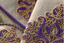 Beading details for bridal / Beautiful beadembroidery and crystal details for bridal attire and wedding hair accessories