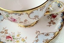 China, plates, Tea cups and Teapots