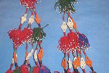Tassels / Afghan tribal Kuchi tassels for belly-dancing.